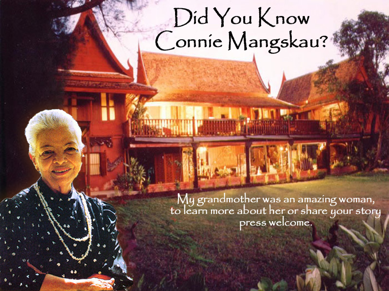Connie mangskau at her home in Bangkok Thailand, an historic building moved from Ayuddhya